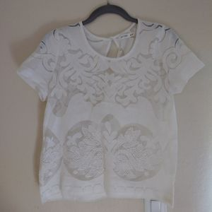 Acemi lace see thru blouse